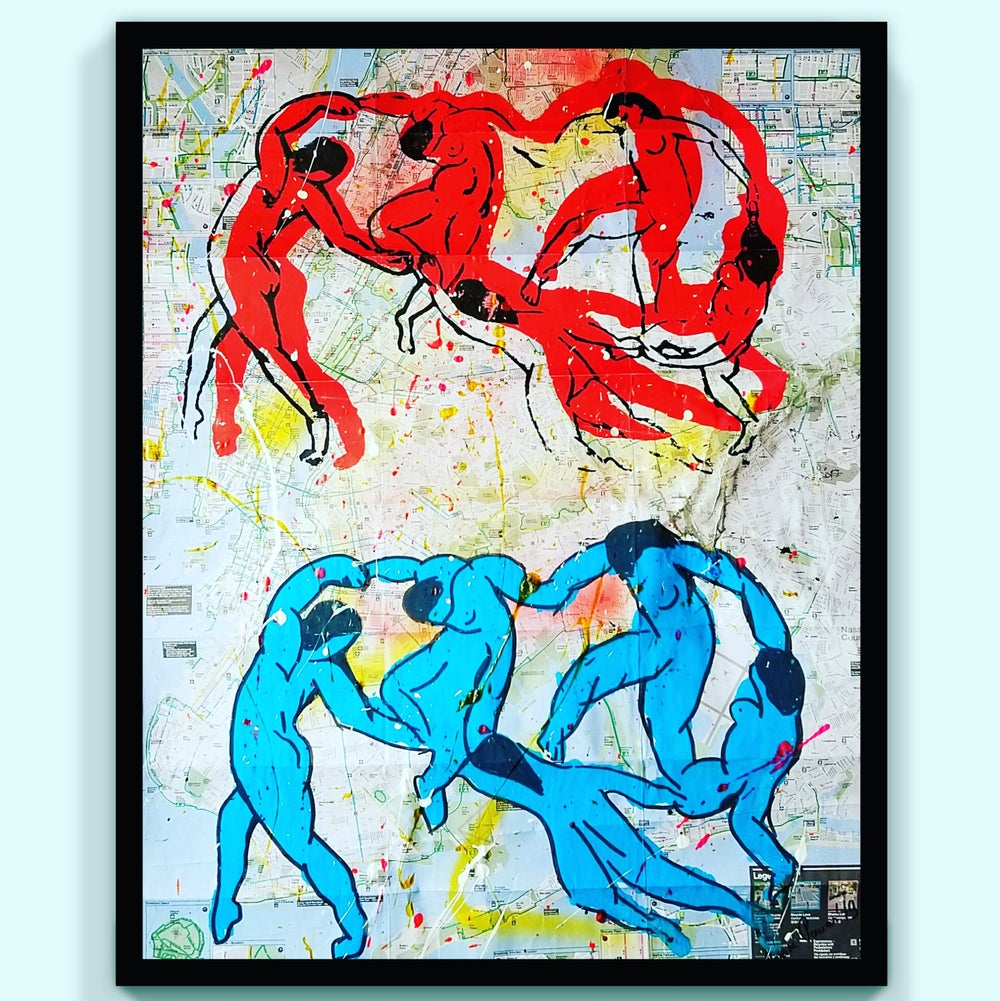 "Image of ""The Dancers."" Homage to Matisse."