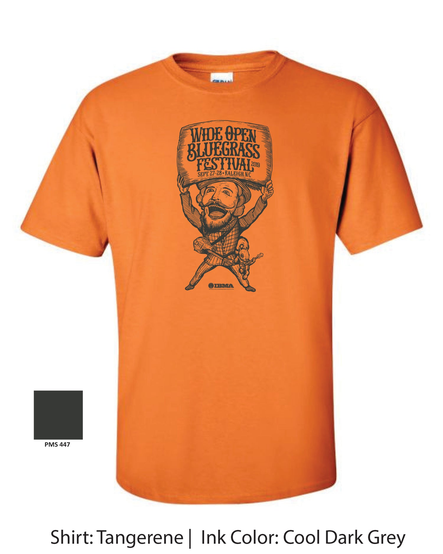 Image of Wide Open Bluegrass 2019 Orange YOUTH shirts