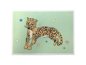 Image of Reclining Leopard A5 Print