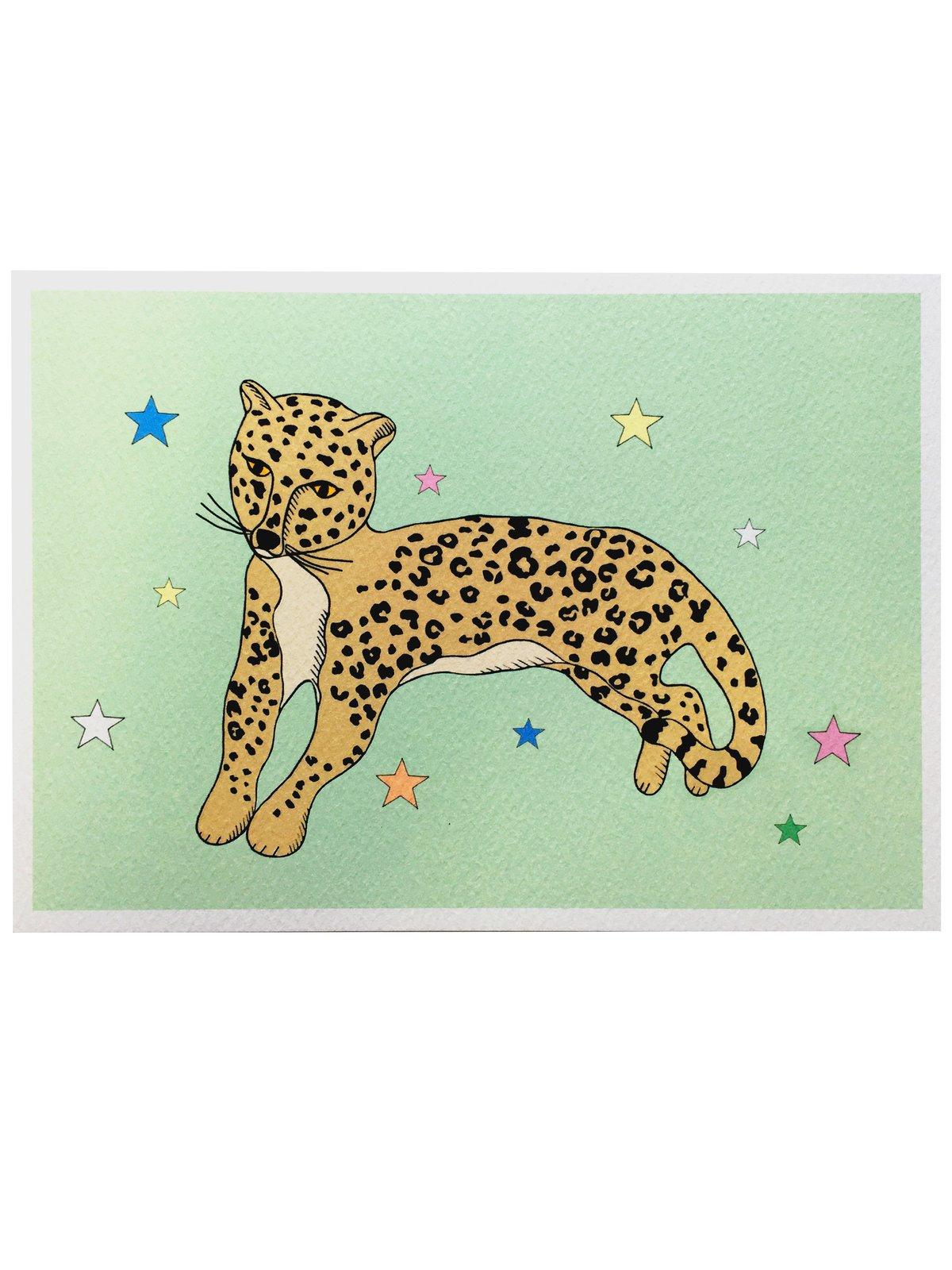 Reclining Leopard A5 Print
