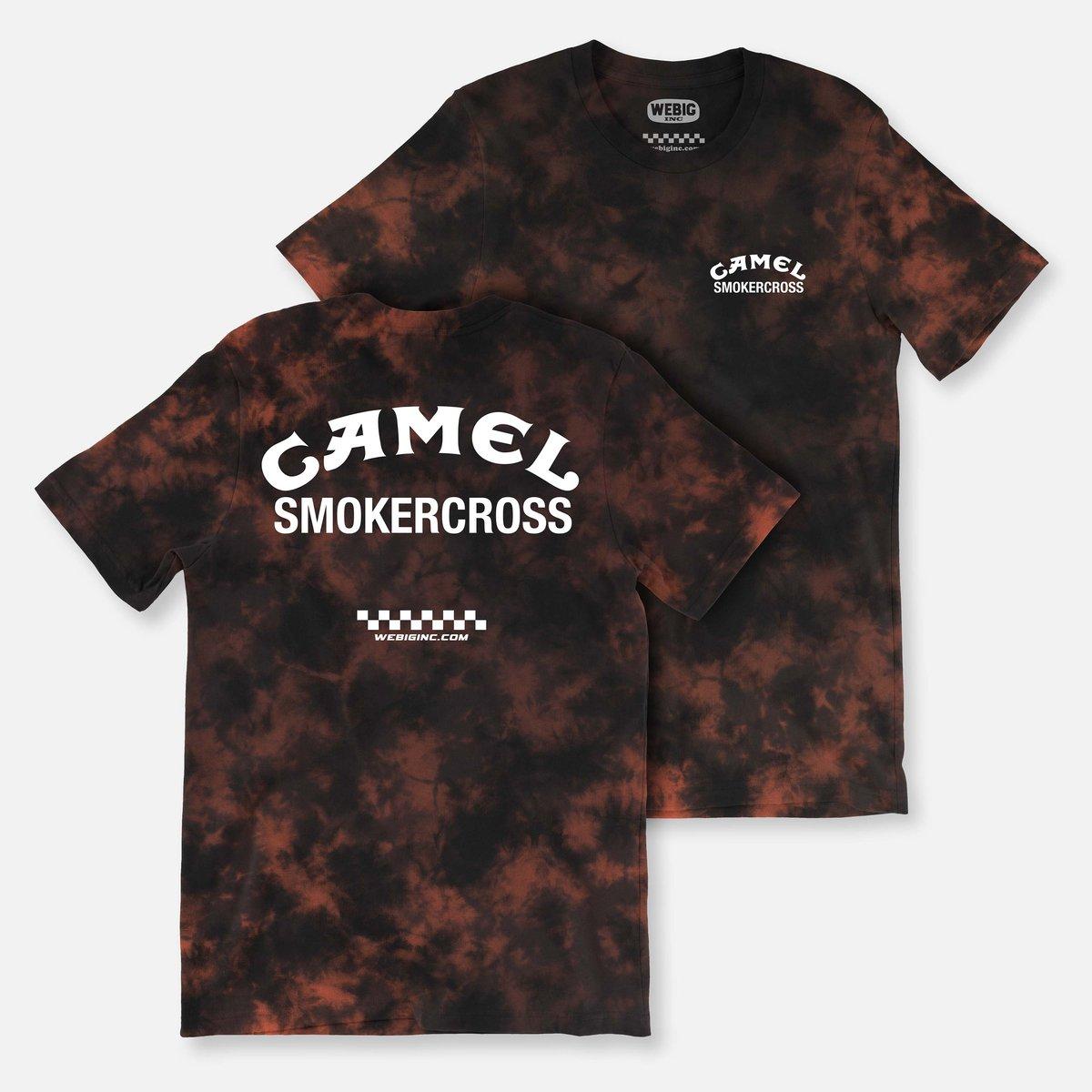 Image of CAMEL SMOKERCROSS BLACK TIE DYE TEE