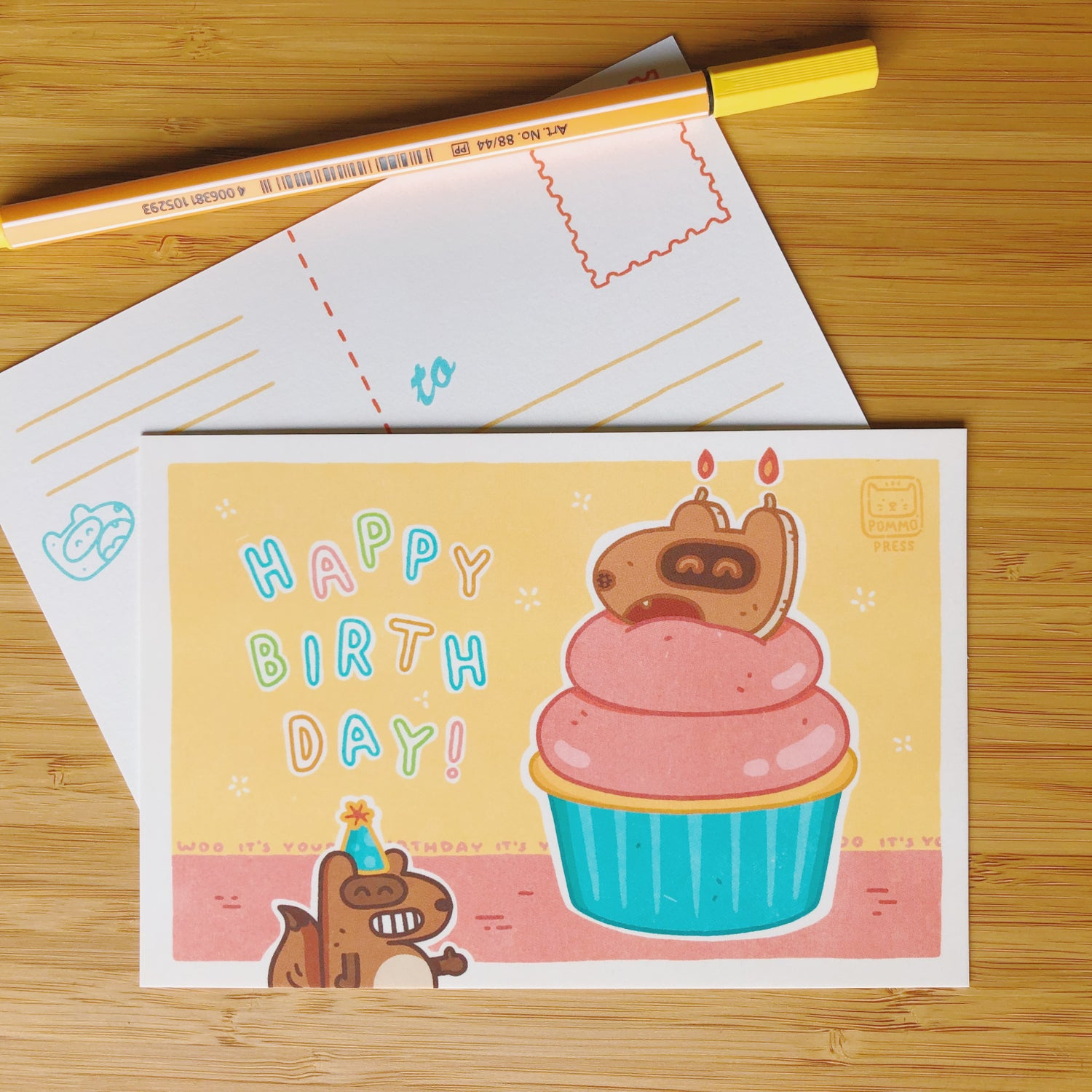 Image of HAPPY BIRTHDAY POSTCARD