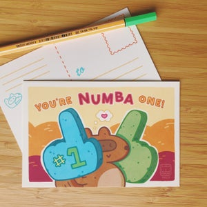 Image of YOUR'RE NUMBA ONE POSTCARD