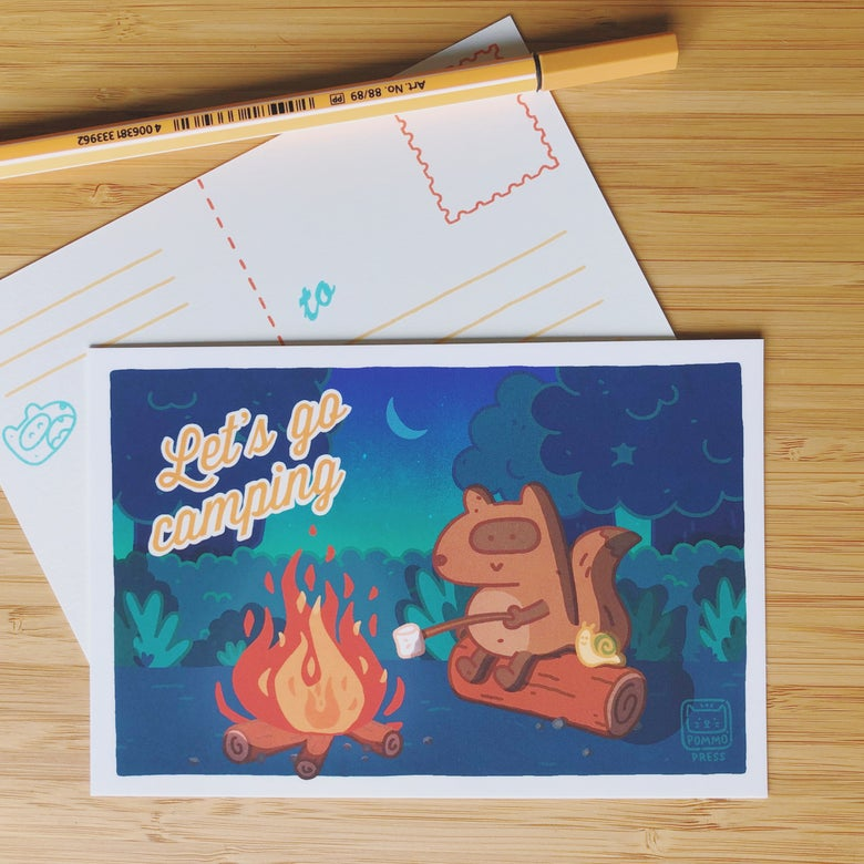 Image of LET'S GO CAMPING POSTCARD