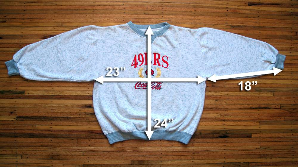 Image of Vintage San Francisco 49ers x Coca-Cola Sweatshirt sz M/L