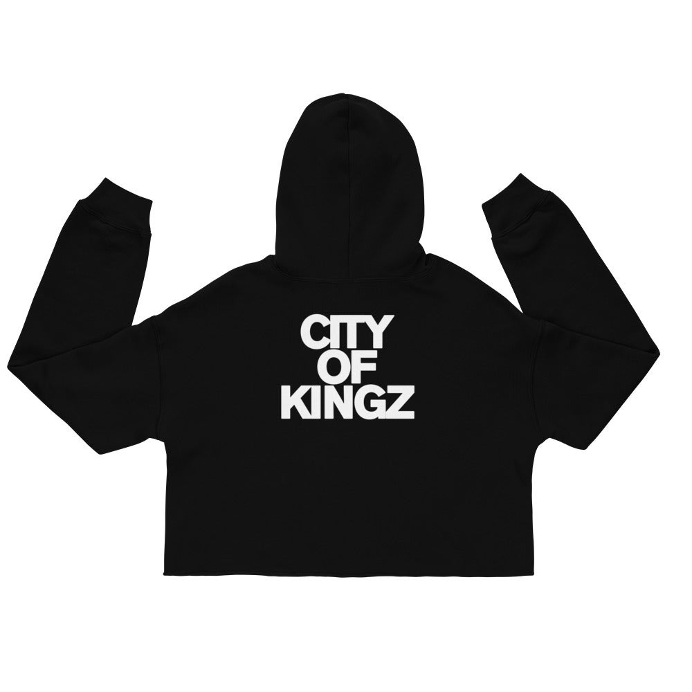 Image of CITY OF KINGZ WOMEN'S CROPPED HOODY