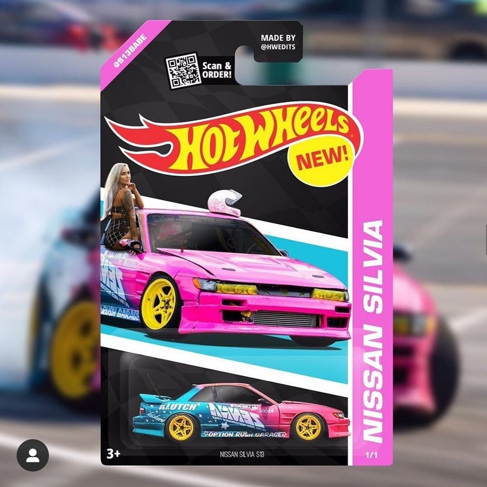 Image of REAL CUSTOM Hotwheels Car + Package