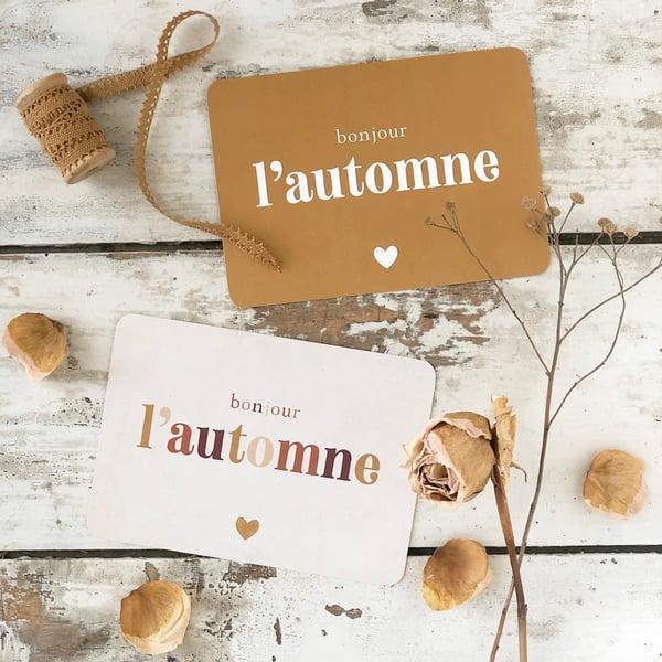 Image of Carte Postale BONJOUR L'AUTOMNE