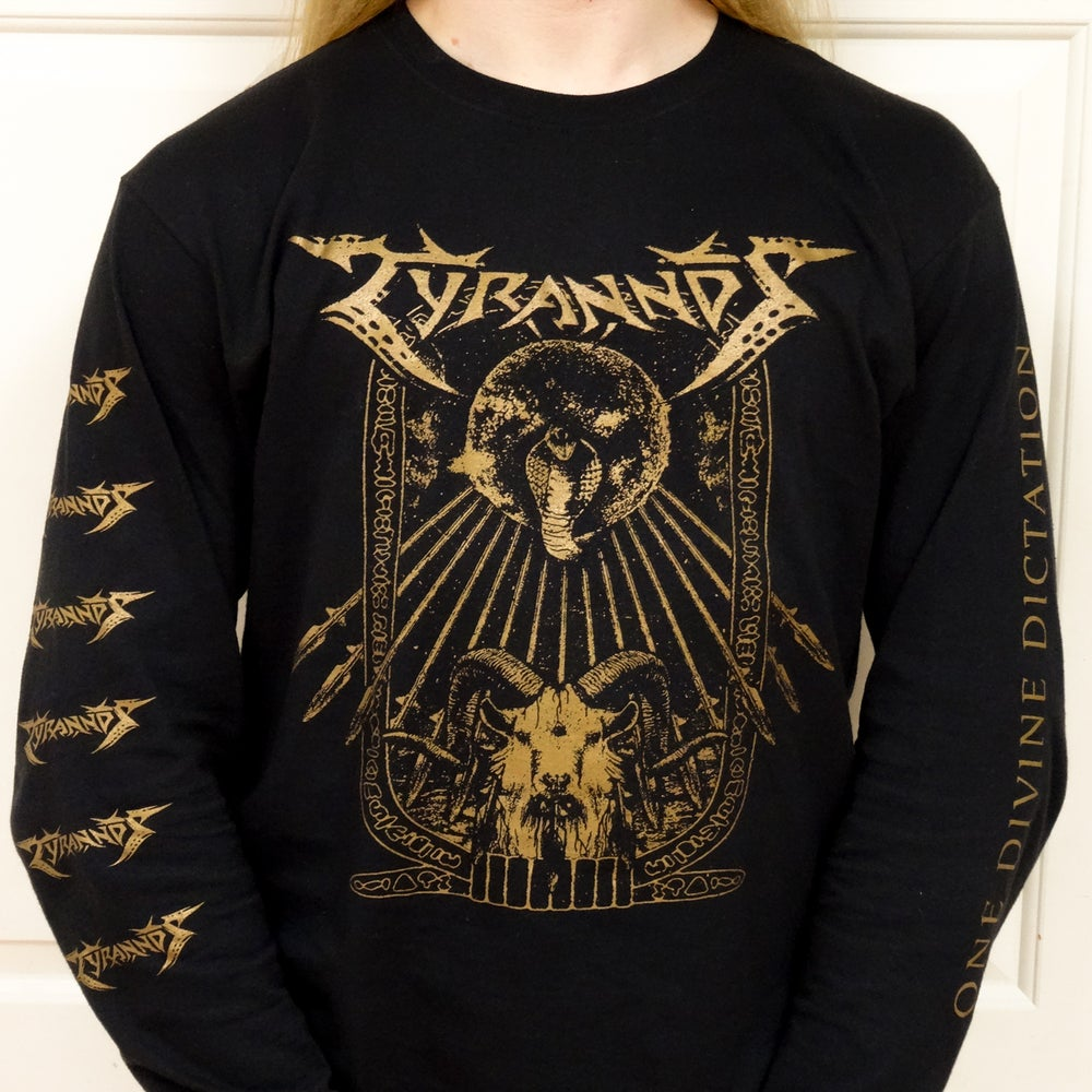 Image of Tyrannos 'One Divine Dictation' Long Sleeved Shirt
