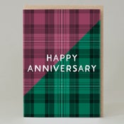 Image of Happy Anniversary Tartan (Card) TN029