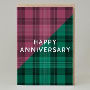 Image of Happy Anniversary Tartan (Card) TN029
