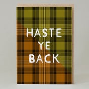 Image of Haste ye back Tartan (Card) TN028
