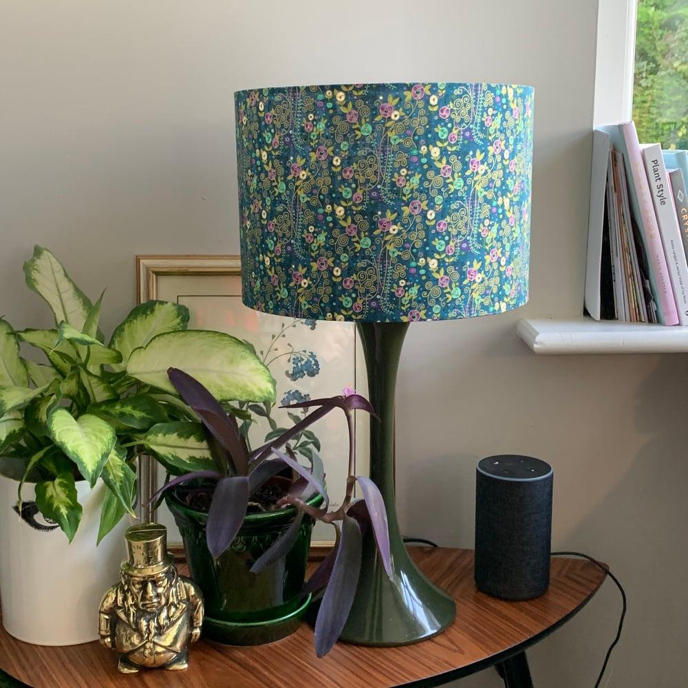 Image of Rhapsody Flowers Blue Shade 30cm