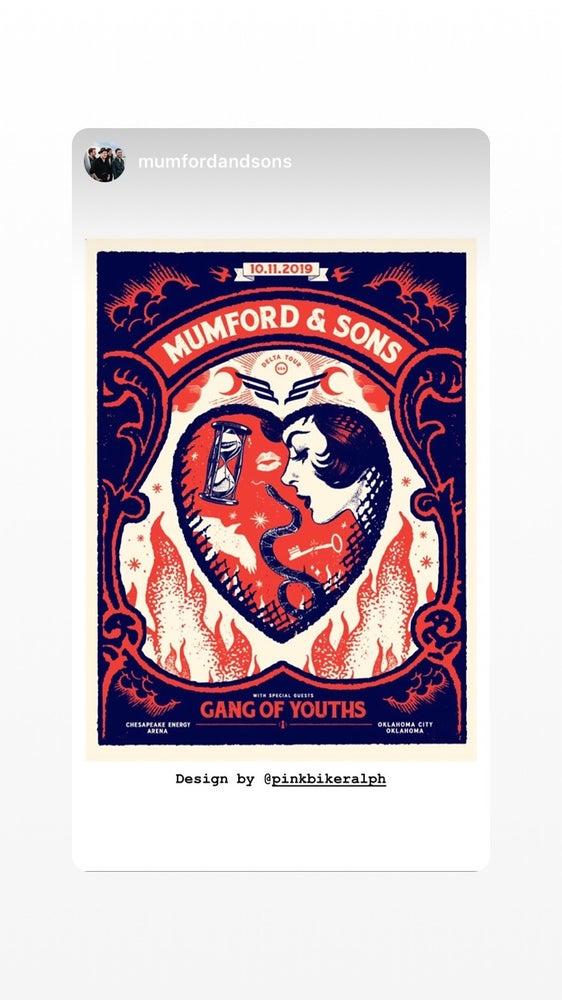 Image of Mumford & Sons - OKC 10.11.19 poster