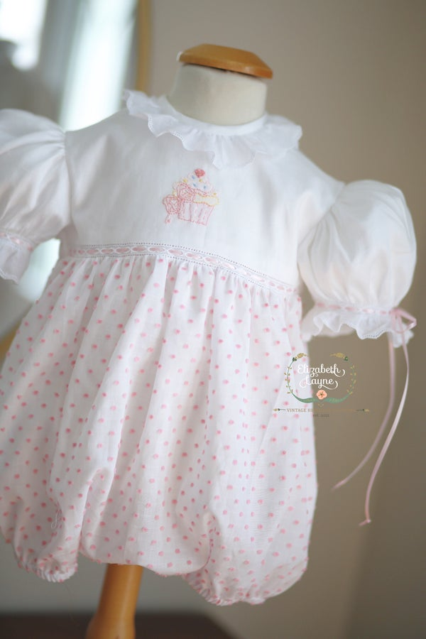 Image of Swiss Dot Birthday Bubble & Dress