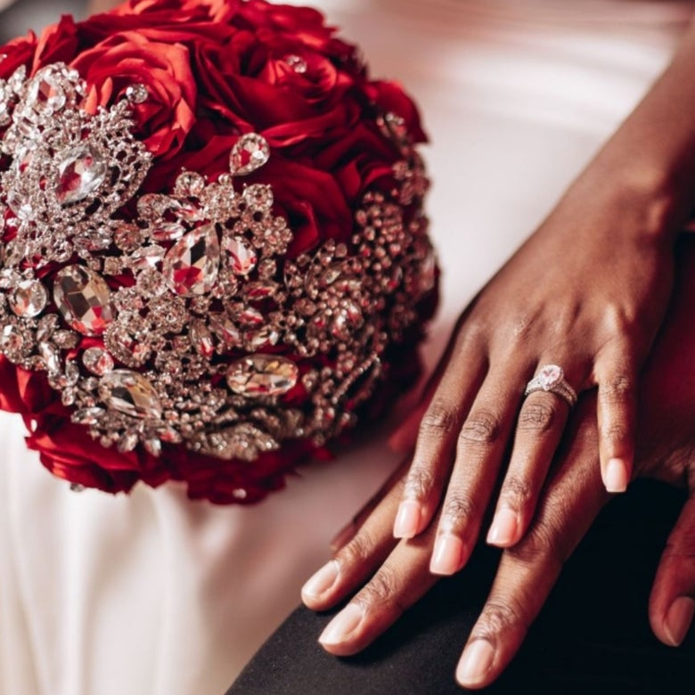 "Image of ""Michelle"" Brooch Bouquet (Available in other colors)"