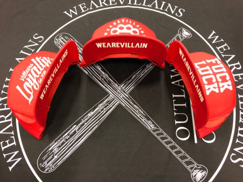 Image of Red WEAREVILLAINS snap back/3 styles