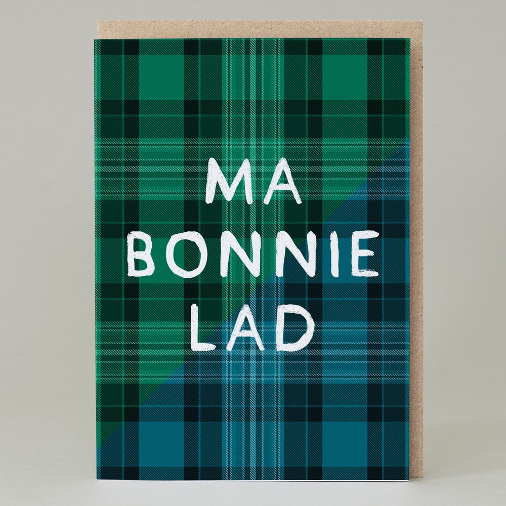 Image of Ma Bonnie Lad Tartan (Card) TN027