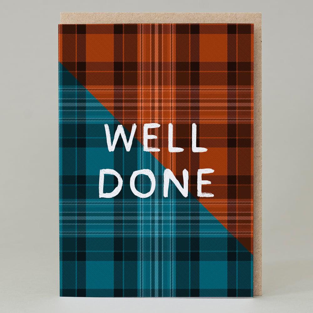 Image of Well Done Tartan (Card) TN024