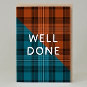 Image of Well Done Tartan (Card) TN024