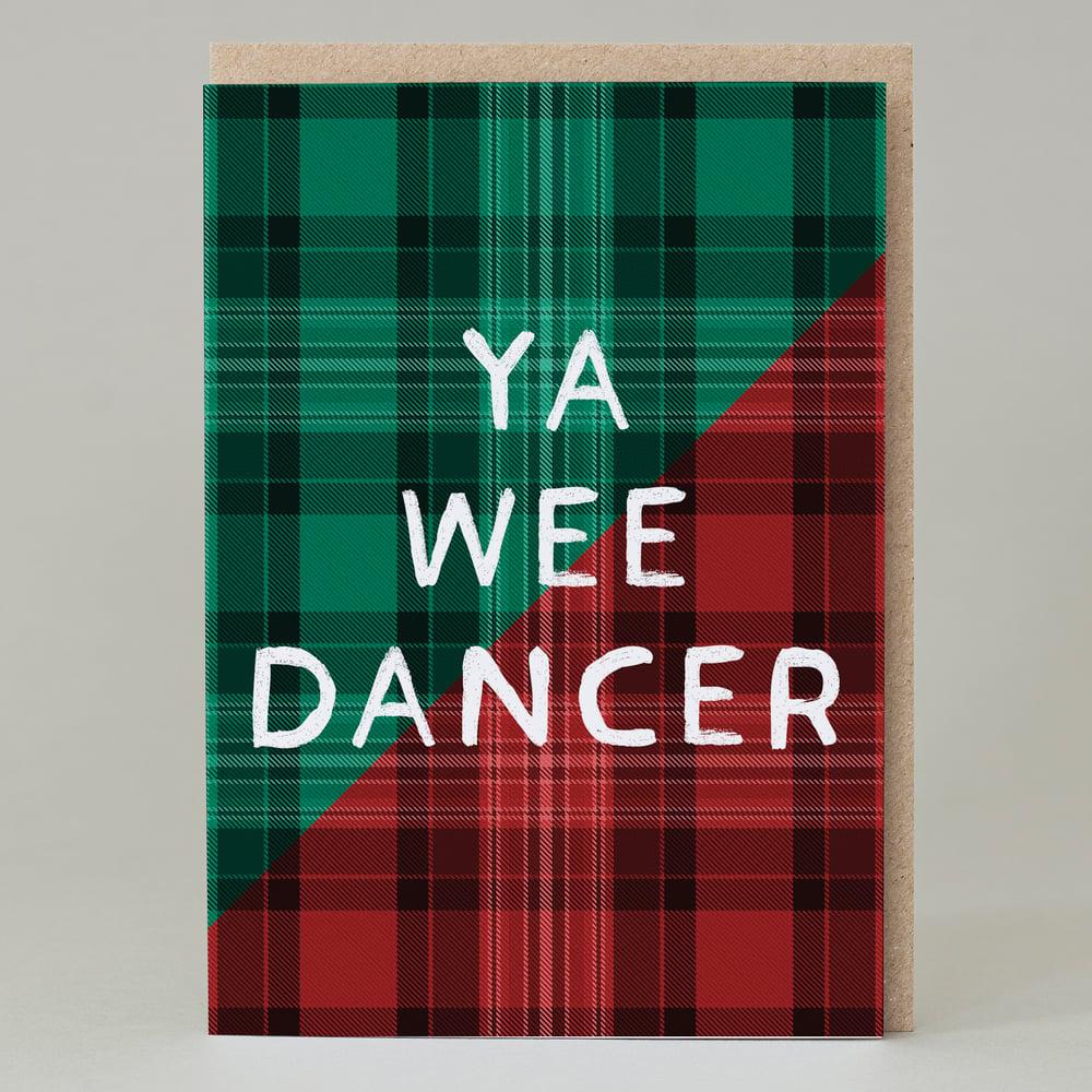 Image of Ya wee dancer Tartan (Card) TN023