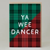 Image of Ya wee dancer Tartan (Card) TN023