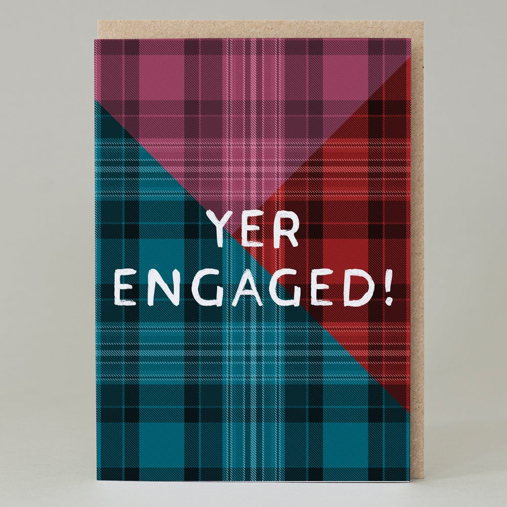 Image of Yer engaged Tartan (Card) TN022