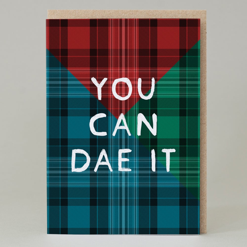Image of You can dae it Tartan (Card) TN021
