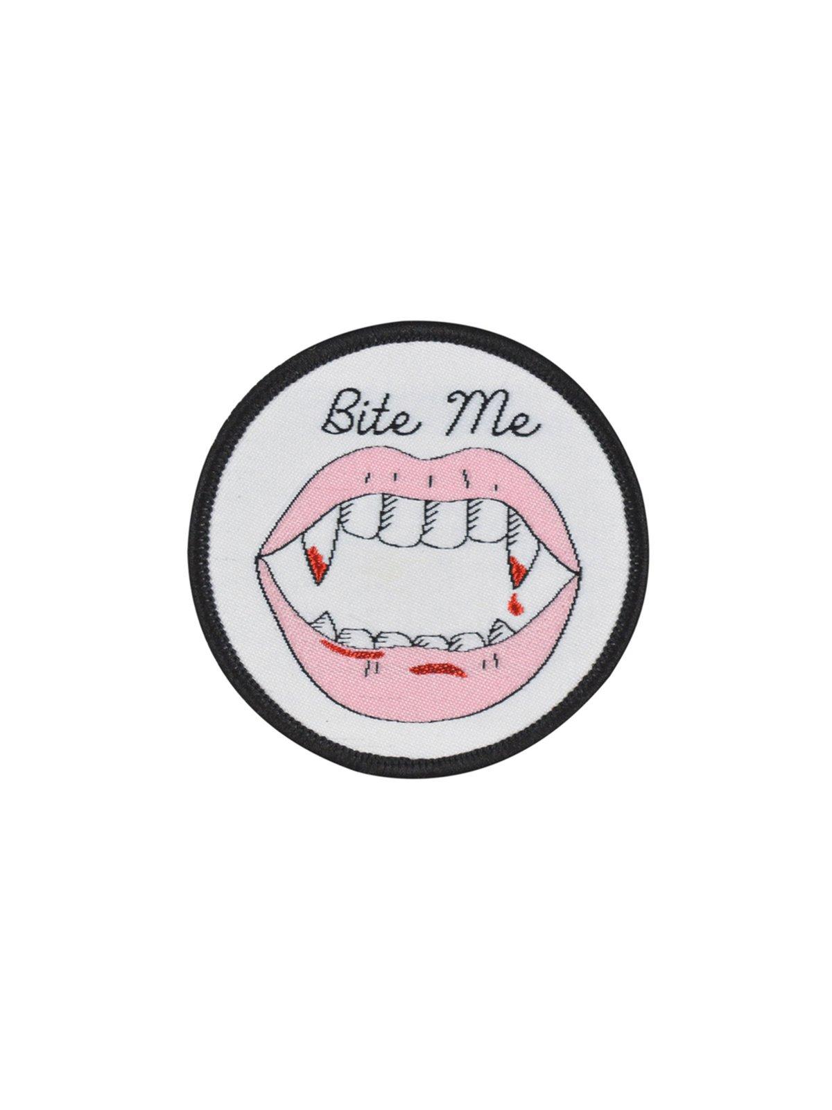 Bite Me Iron-on Patch