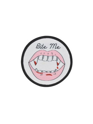 Image of Bite Me Iron-on Patch