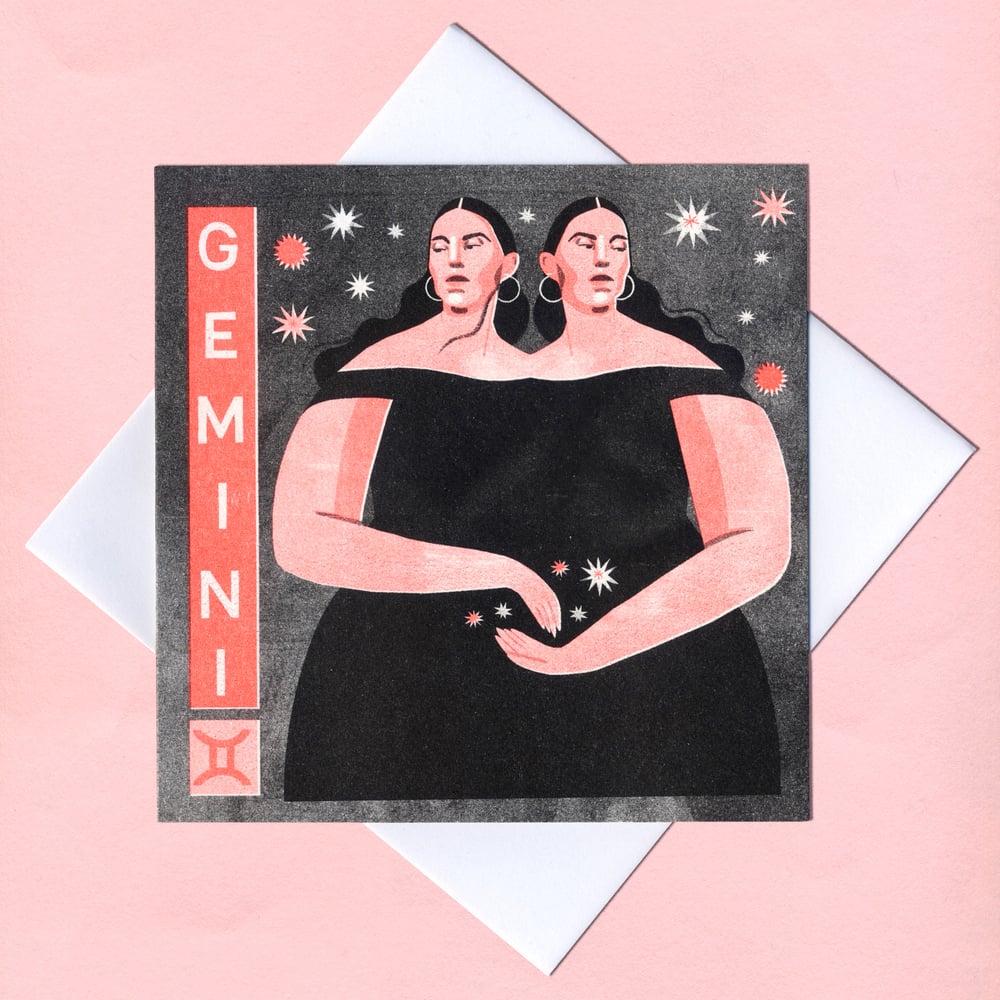 Image of Gemini riso greetings card