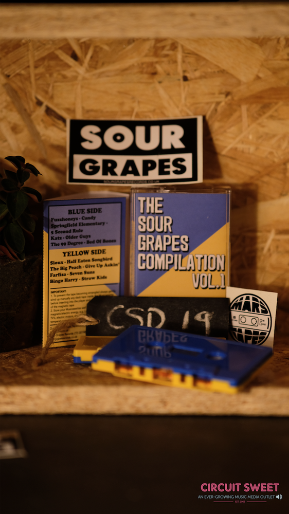 Image of CASSETTE STORE DAY 2019 RELEASE   THE SOUR GRAPES COMPILATION VOL. 1