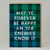 Image of Enemies know it Tartan (Card) TN004
