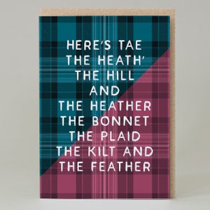 Image of Heath and heather Tartan (Card) TN003