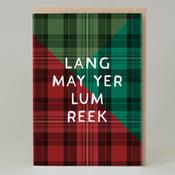 Image of Lang lum reeks Tartan (Card) TN002