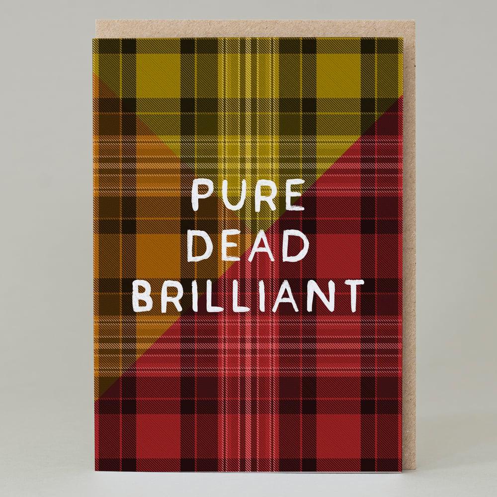 Image of Pure dead brilliant Tartan (Card) TN001
