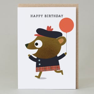 Image of Piper bear Birthday (Card) PIPER002
