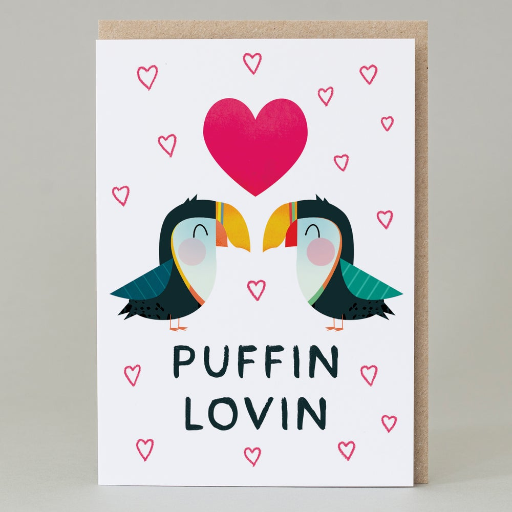 Image of Puffin lovin (Card)