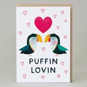 Image of Puffin lovin (Card) PUFFIN004
