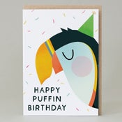 Image of Happy Puffin Birthday (Card) PUFFIN006
