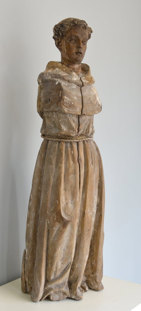 Image of 18th century Santos figure of a Franciscan Monk