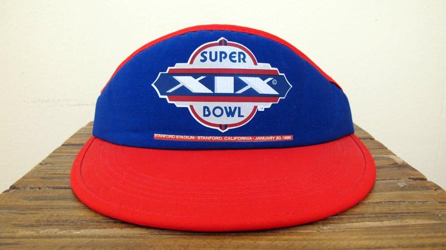 Image of Vintage NFL Super Bowl XIX Visor