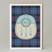 Image of 80th Birthday kilt card