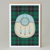 Image of 100th Birthday kilt card