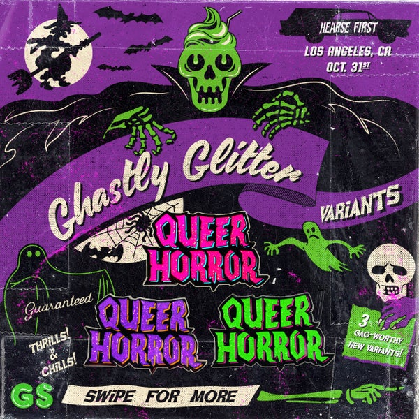 Image of Queer Horror Hard Enamel Pin