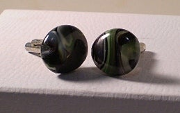 Image of Green Swirl Cufflinks