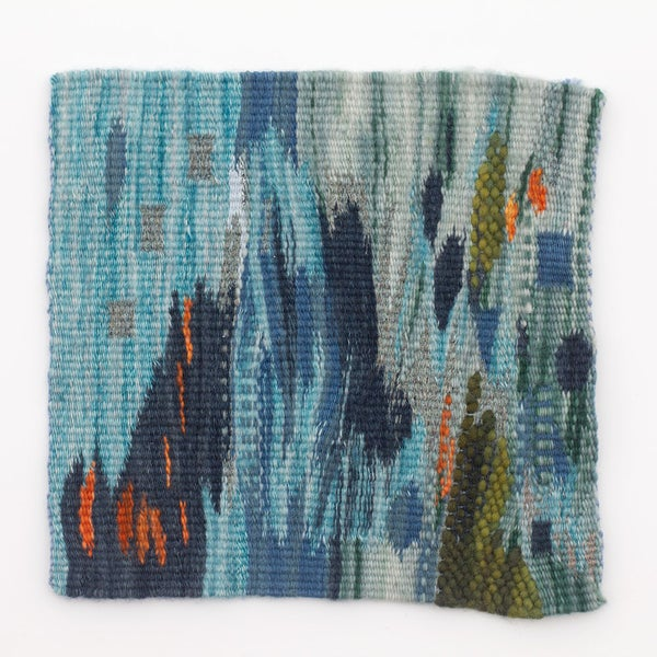 Image of Reflections on Painting handwoven tapestry weaving