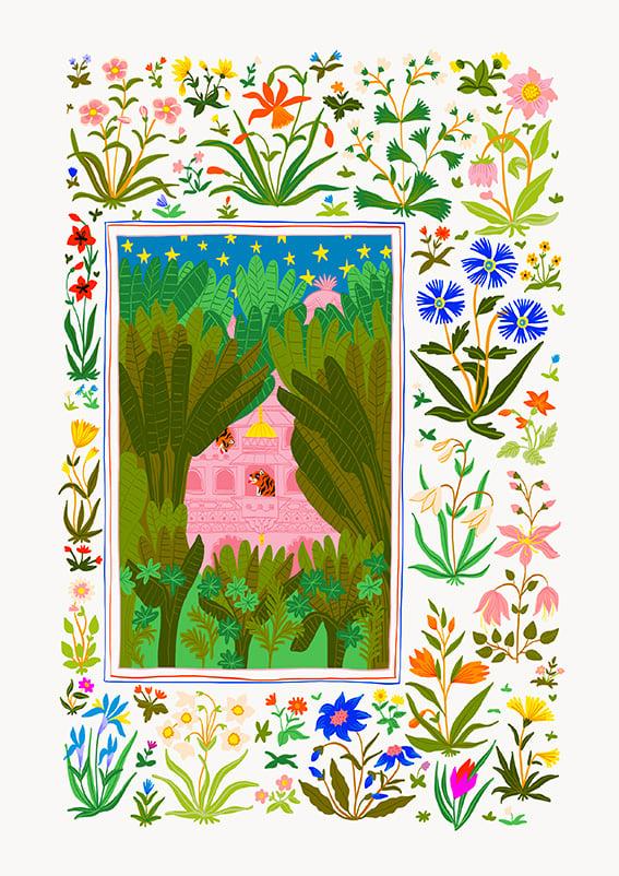 Image of SECRET PALACE - A3 print