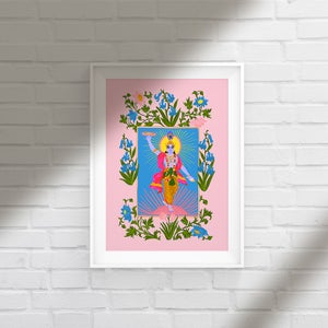 Image of KRISHNA pink or green - A3 print