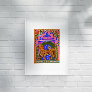 Image of TIGER TEMPLE - A3 print